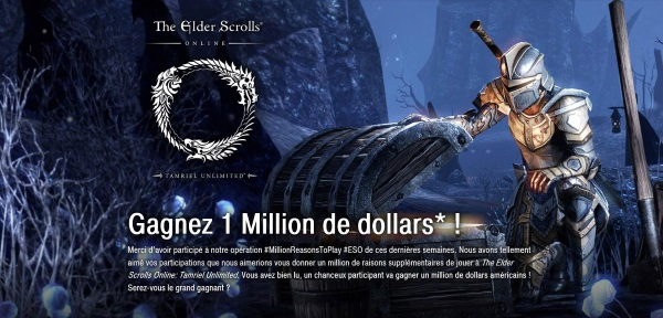 The Elder Scrolls Online : gagnez 1 million de dollars