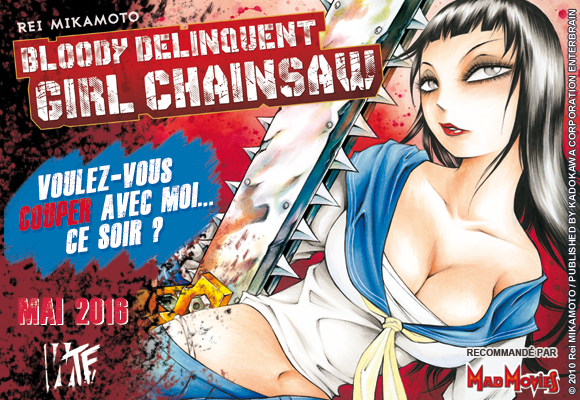 Le manga Bloody Delinquent Girl Chainsaw arrive en France