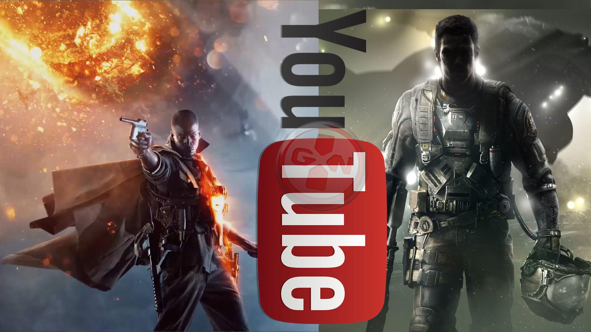Infinite Warfare/Battlefield 1 : la guerre des pouces sur Youtube