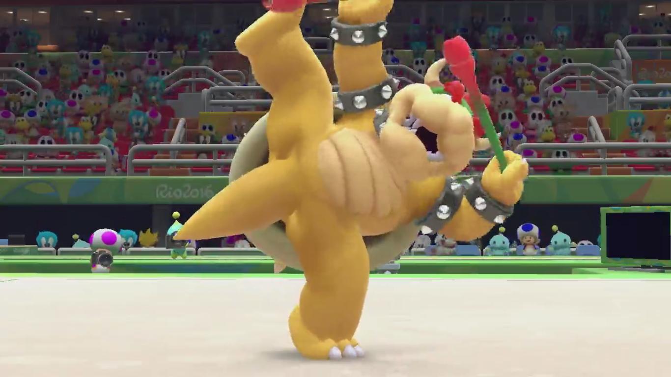 Bowser en pleine gymnastique rythmique… hilarant !
