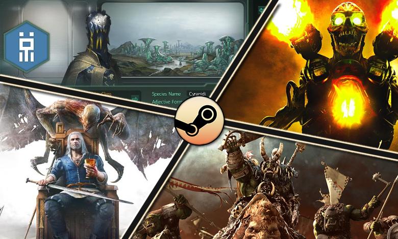 Top 10 Steam au 23 mai : Doom invite Geralt à la fête