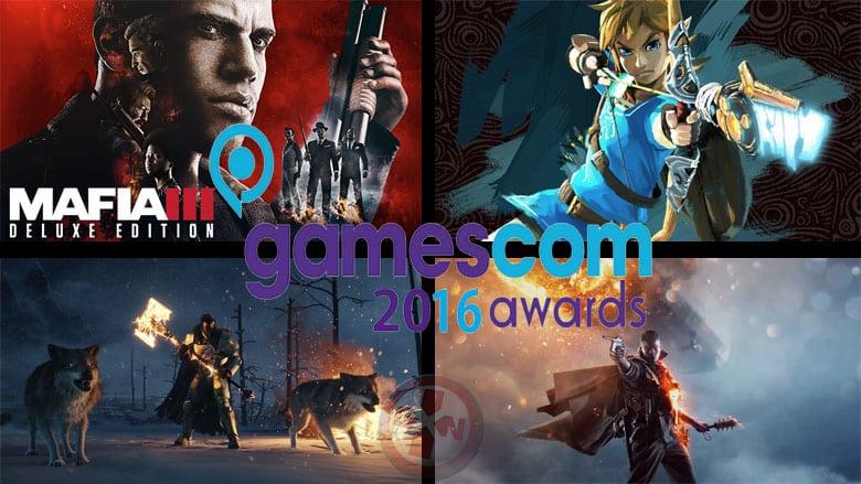 Les gagnants de la Gamescom 2016