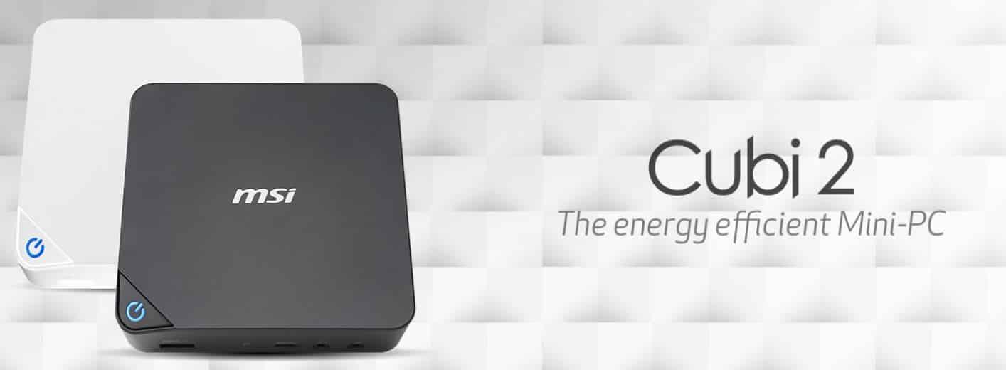 MSI met à jour sa gamme de mini-PC polyvalents avec le Cubi 2
